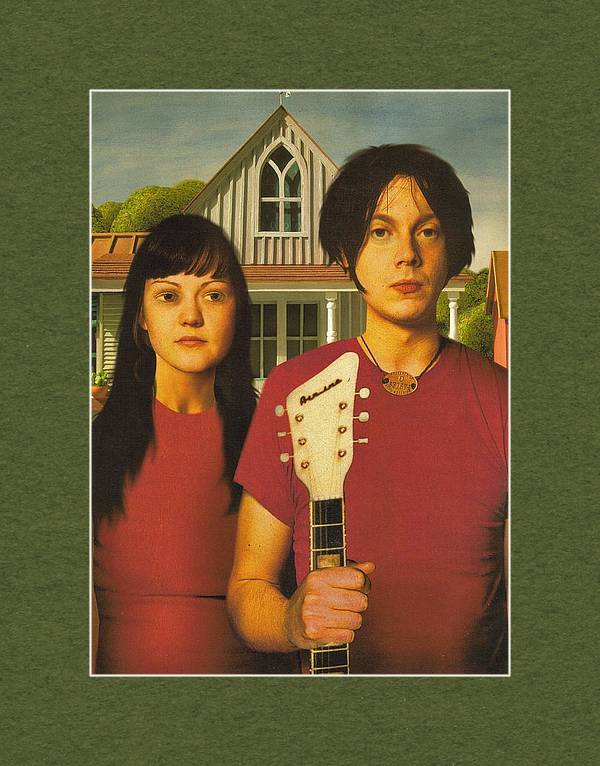 The White Stripes - American Gothic Pose by Rory Cubel