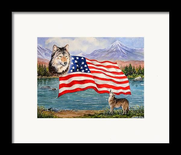 Andrew Read Framed Print featuring the painting The Wildlife Freedom Collection 1 by Andrew Read