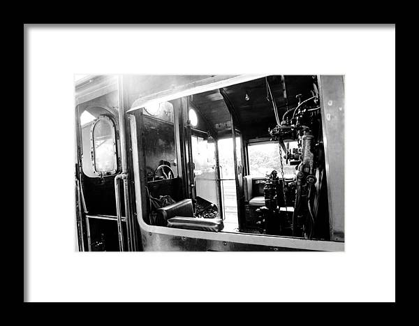 The Window Of Old Train Framed Print featuring the photograph The Window Of Old Train by Dewa Wirabuwana