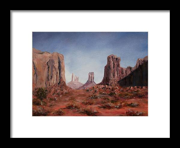 Arizona Framed Print featuring the painting The Window by Thomas Restifo