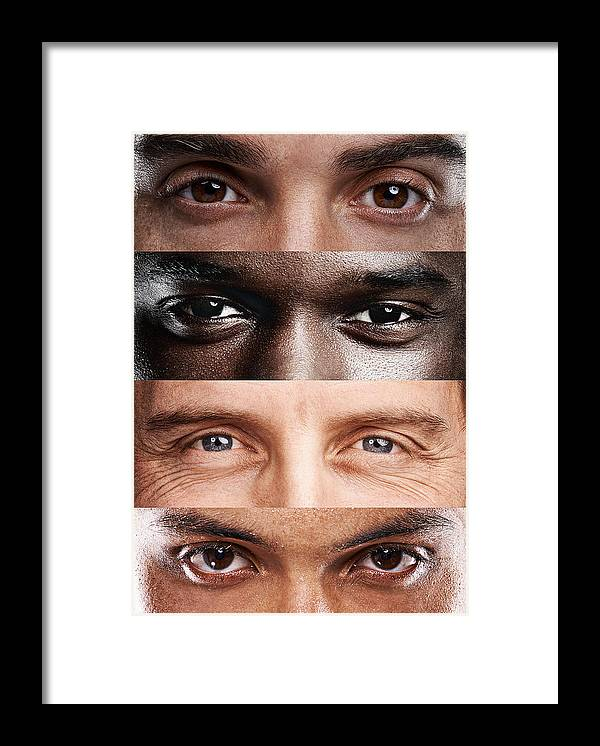 Young Men Framed Print featuring the photograph The windows to the soul, no matter where you're from! by Yuri_Arcurs