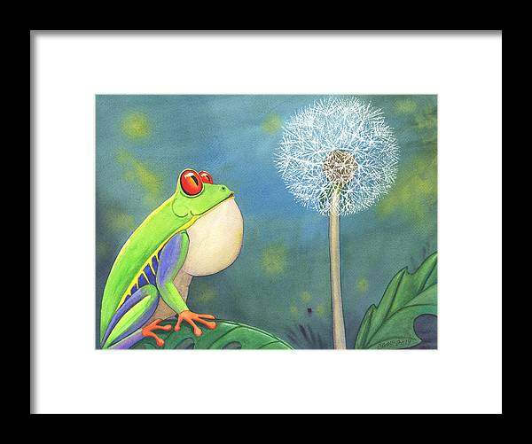 Frog Framed Print featuring the painting The Wish by Catherine G McElroy