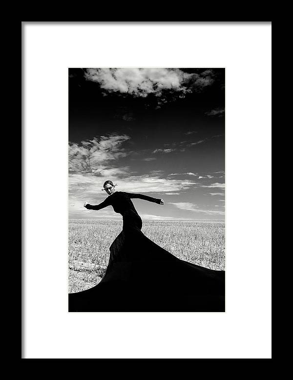 Looking Over Shoulder Framed Print featuring the photograph The Witch by Funky-data