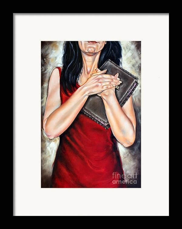 Bible Framed Print featuring the painting The Word by Ilse Kleyn