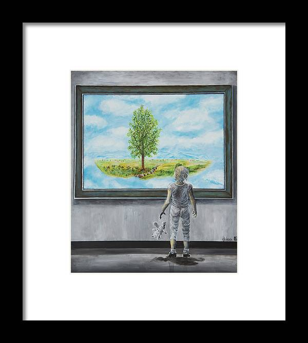Painting Of Paintings Framed Print featuring the painting The World You Thought You Lived In by Nik Helbig
