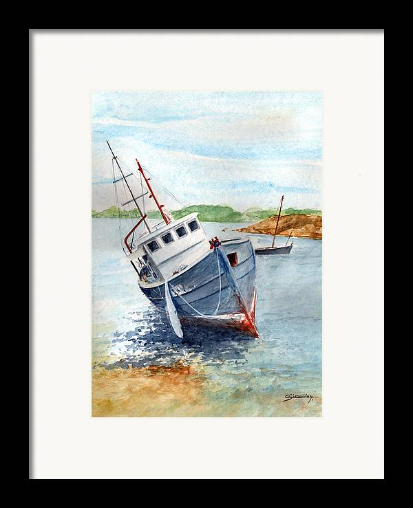 Wreck Framed Print featuring the painting The Wreck by Christian Simonian