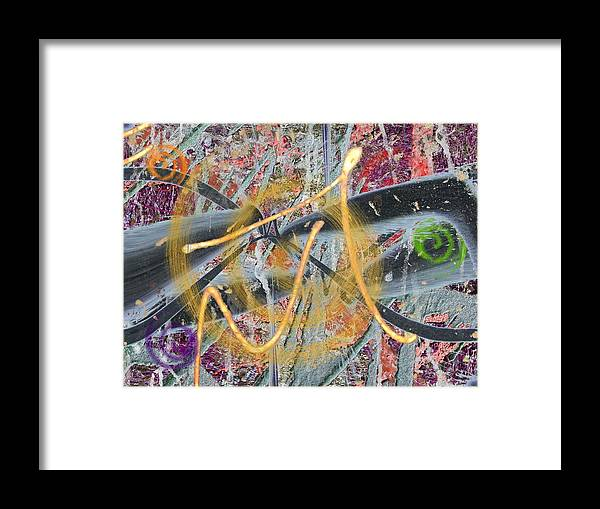 Abstract Framed Print featuring the digital art The Writing On The Wall 12 by Tim Allen