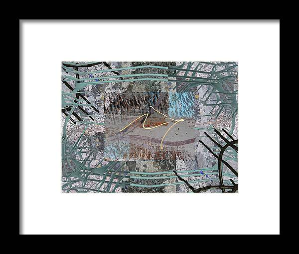 Abstract Framed Print featuring the digital art The Writing On The Wall 13 by Tim Allen