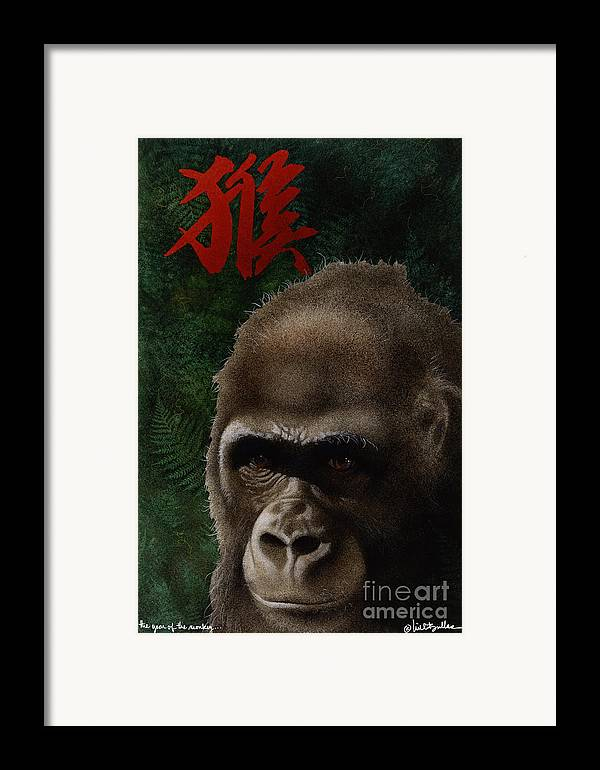 Will Bullas Framed Print featuring the painting The Year Of The Monkey... by Will Bullas