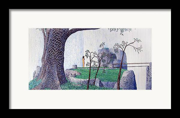 Landscape Framed Print featuring the painting The Yearning Tree by A Robert Malcom