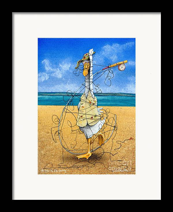 Will Bullas Framed Print featuring the painting The Yoga Of Fly Fishing... by Will Bullas