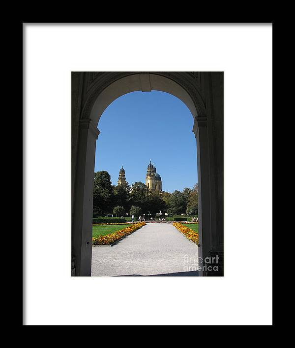 Church Framed Print featuring the photograph Theatiner Church Munich by Christiane Schulze Art And Photography