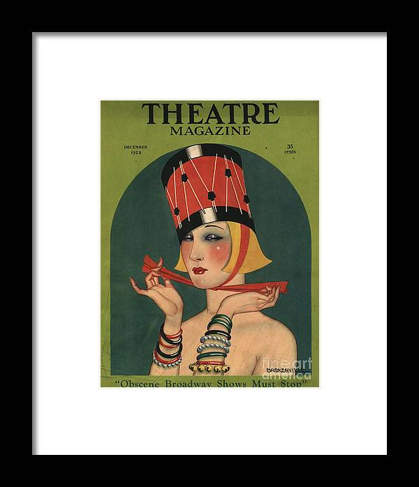 1920�s Framed Print featuring the drawing Theatre 1923 1920s Usa Magazines Art by The Advertising Archives