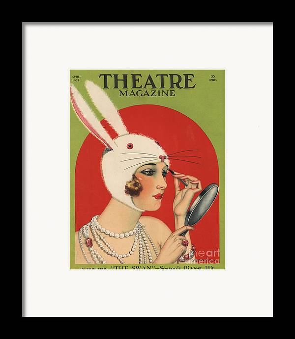 1920�s Framed Print featuring the drawing Theatre Magazine 1924 1920s Usa by The Advertising Archives