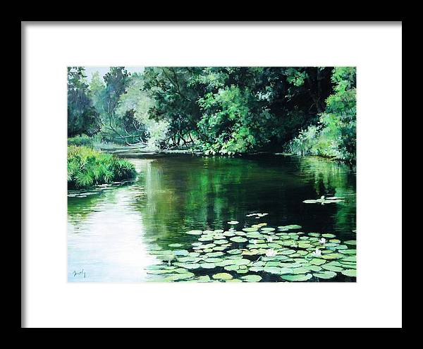Landscape Framed Print featuring the painting Their Spot by William Brody
