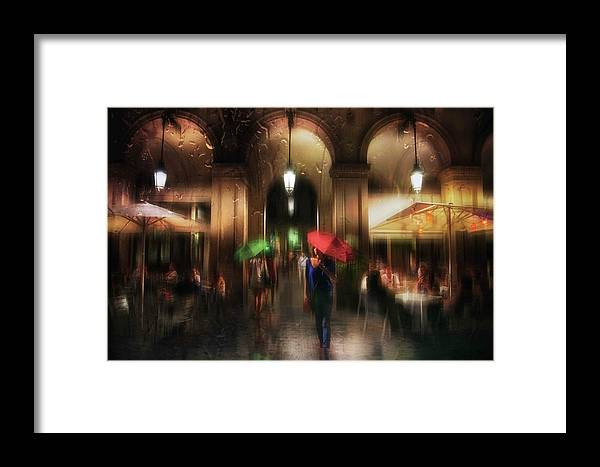 Umbrella Framed Print featuring the photograph There Is Something In The Rain... by Charlaine Gerber