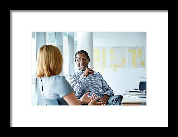 Expertise Framed Print featuring the photograph They share a great working relationship by Kupicoo