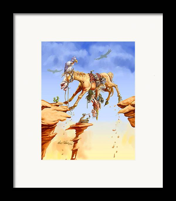 Horse Framed Print featuring the painting Things Are Looking Up by Nate Owens