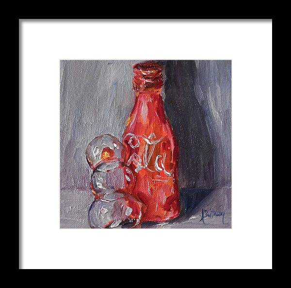 Snowman Framed Print featuring the painting Things Go Betterby Alabama Artist Angela Sulllivan by Angela Sullivan
