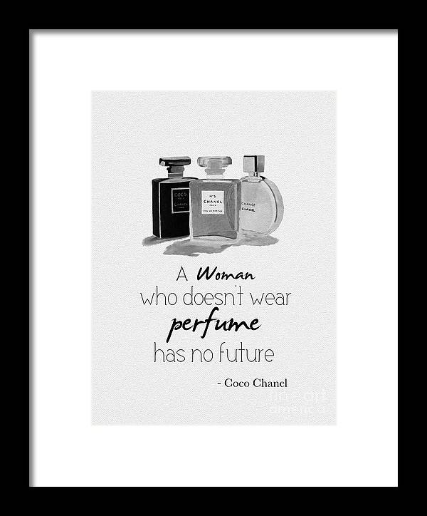 Chanel Framed Print featuring the mixed media Think About Your Future by My Inspiration