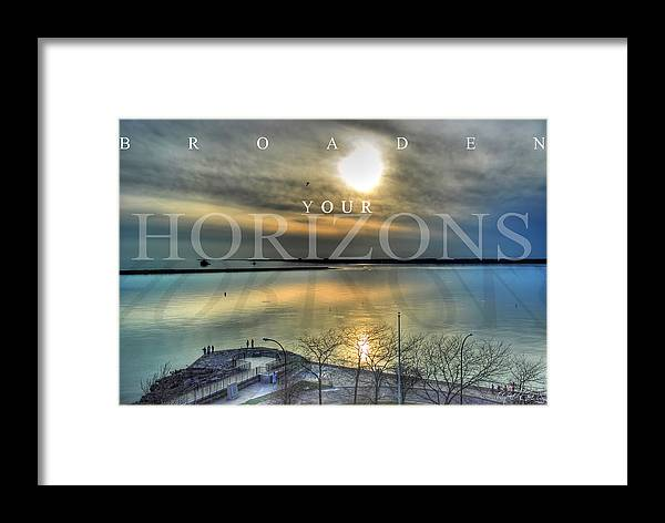 Optimism Framed Print featuring the photograph Thinking Outside The Box by Michael Frank Jr