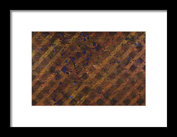 Abstract Framed Print featuring the painting Third Gate by Kurt Olson