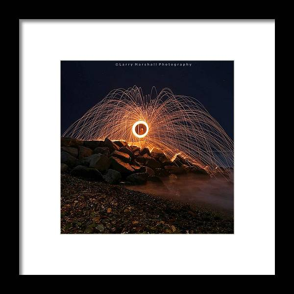 Framed Print featuring the photograph This Is A Shot Of Me Spinning Burning by Larry Marshall