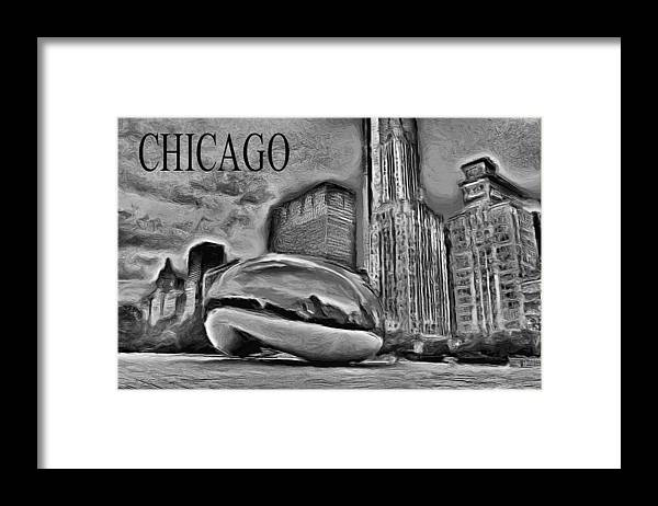 Cloudgate Framed Print featuring the painting This Is Chicago by Ely Arsha