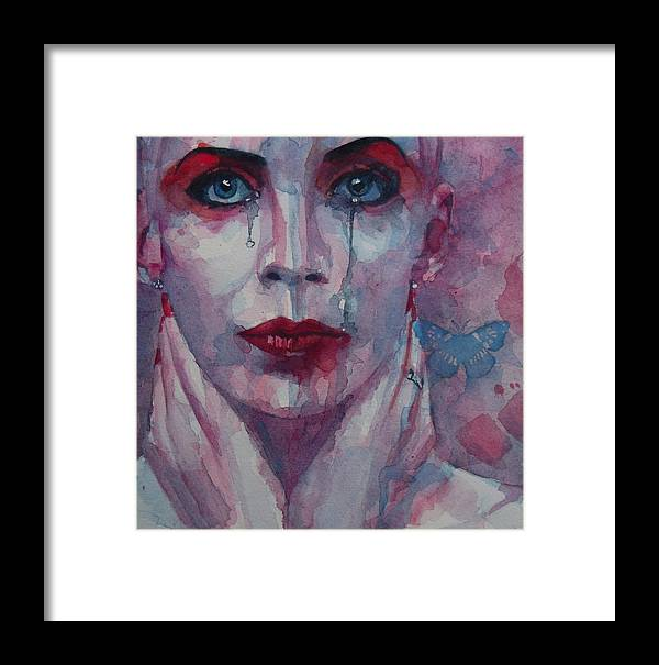 Annie Lennox Framed Print featuring the painting This Is The Fear This Is The Dread These Are The Contents Of My Head by Paul Lovering