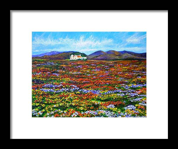 Flower Framed Print featuring the painting This Must Be Heaven by Michael Durst