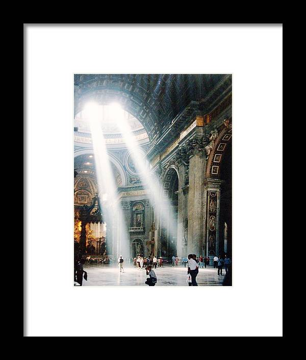 Cathedral Framed Print featuring the painting This Needs No Further Title by Bruce Combs - REACH BEYOND