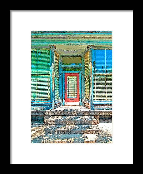 Door Framed Print featuring the photograph This Office Is Closed by Terry DeHart