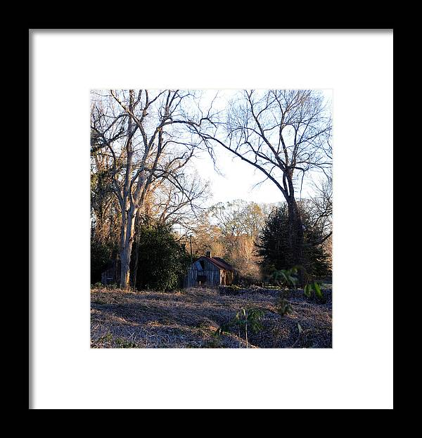 Woods Framed Print featuring the photograph This Ole House by Leon Hollins III