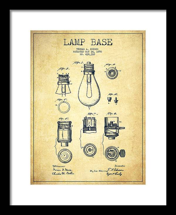 Edison Light Bulb Framed Art Prints Fine Art America