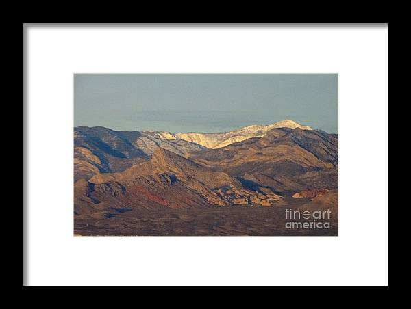 Framed Print featuring the photograph Those Beautiful Snow Cap Mountains Of Nv by Linda Xydas