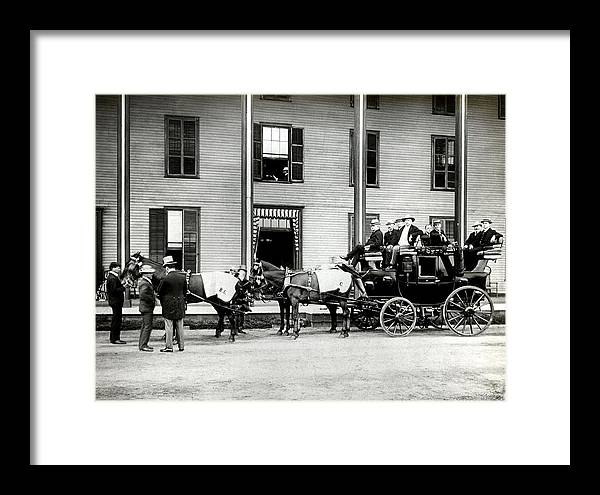 Stagecoach Framed Print featuring the photograph Those Were The Days 2 by John Rowe