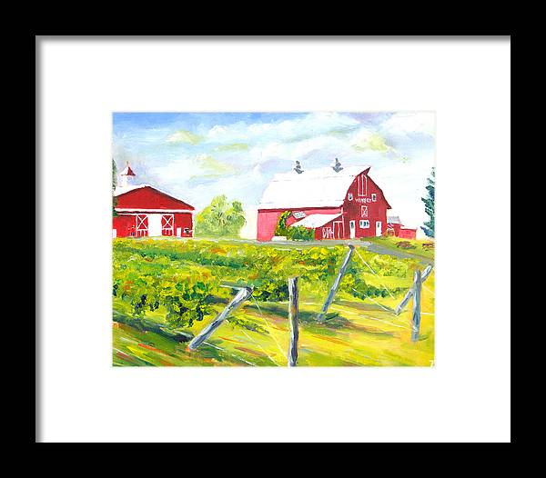 Plein Air Painting Framed Print featuring the painting Thousand Islands Winery-september by Robert P Hedden
