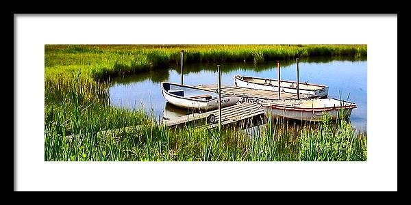Cape Framed Print featuring the photograph Three Falmouth Dinghies by Rita Brown