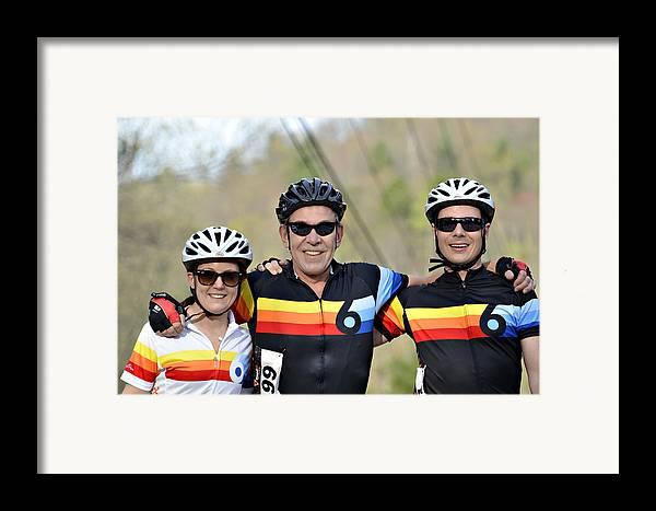 Sport Framed Print featuring the photograph Three Gran Fondo Riders by Susan Leggett