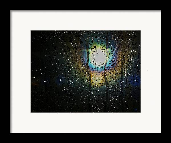 Water Droplets Framed Print featuring the photograph Through My Window by Anna Villarreal Garbis