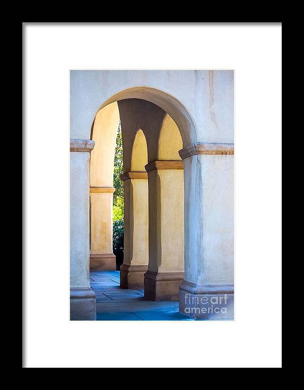 Framed Print featuring the photograph Through The Arch by Joe Galura