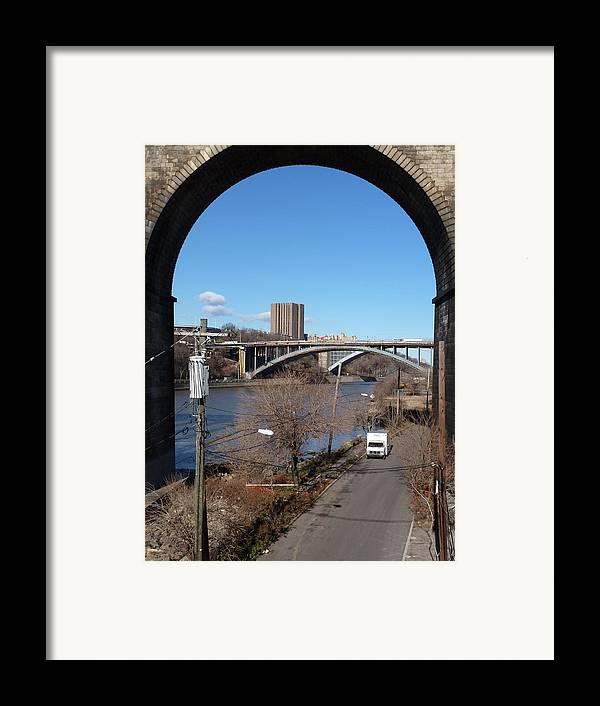 Bronx Framed Print featuring the digital art Through The Highbridge by Steve Breslow
