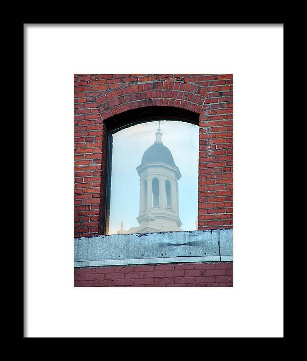 Architecture Framed Print featuring the photograph Through The Looking Glass by Jeri lyn Chevalier