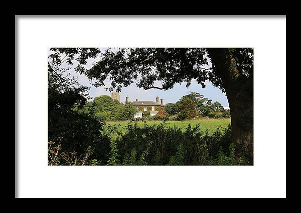 House Framed Print featuring the photograph Through The Trees by Emma Roper