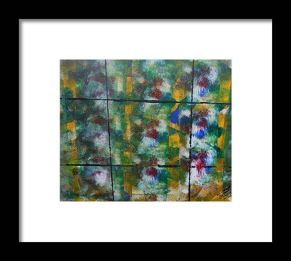 Acrylic Framed Print featuring the painting Through The Window Pane by Arlene Wright-Correll