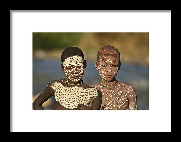 Suri Tribe Framed Print featuring the photograph Thumbs Up by Sandy Schepis