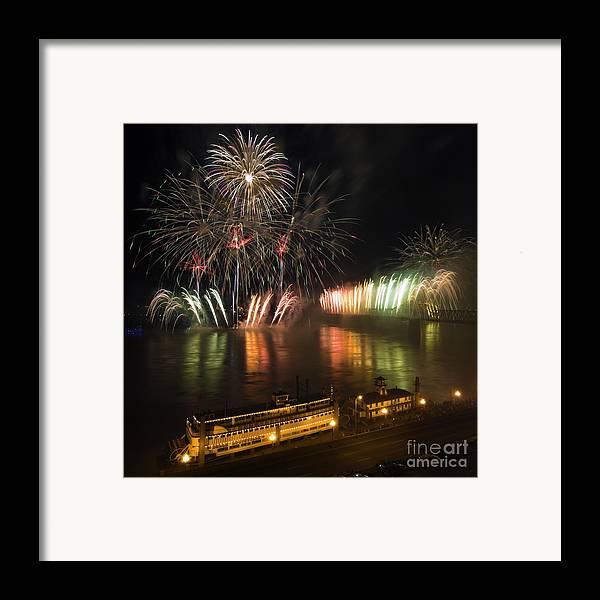 Thunder Framed Print featuring the photograph Thunder Over Louisville - D008432 by Daniel Dempster