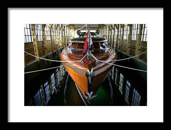 Boat Framed Print featuring the photograph Thunderbird Boathouse by Steven Lapkin