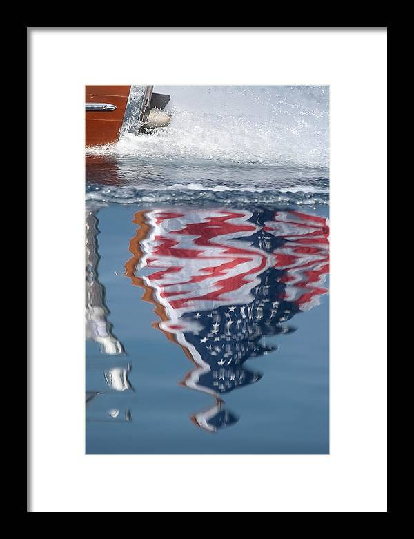 Flag Framed Print featuring the photograph Thunderbird Ensign by Steven Lapkin