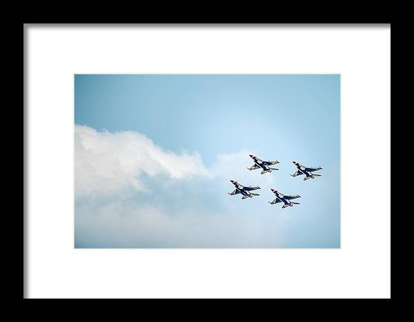 Canton Mi Usa Framed Print featuring the photograph Thunderbirds In The Clouds by Onyonet Photo Studios